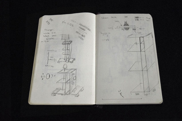 Development sketch of the lamp.