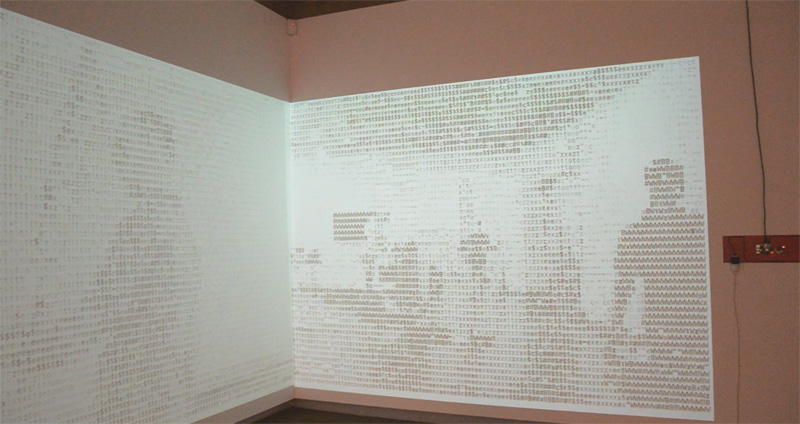 ASCII Installed at the Centre of Contemporary Arts Cairns.