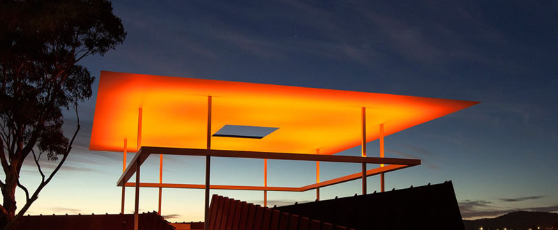Picture of James Turrell's 'Amarna' installed on the roof of MONA, Tasmania.