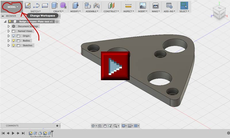 RepRage – How to export gcode from Autodesk Fusion360 for generic