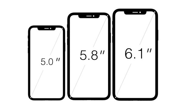 Possible size ranges for the iPhone.