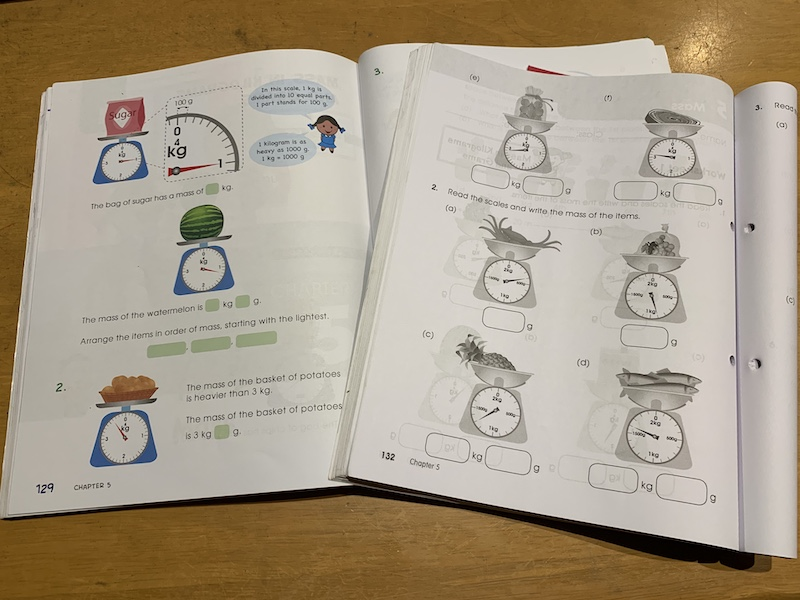 Picture of pages from the year 3 shinglee New Syllabus Primary Mathematics textbooks