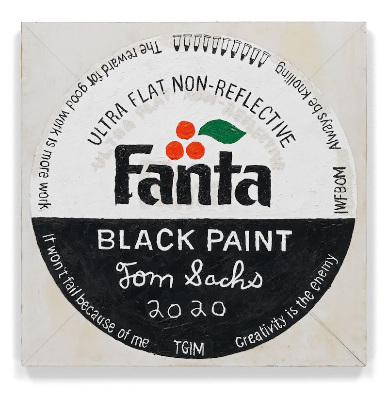 Picture of the painting Fanta Black by Tom Sachs.